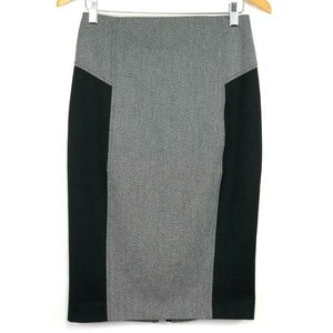 Express Womens Skirt Color Block Straight Pencil 2